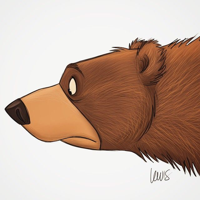 I saw a bear today, so I decided to draw this. The bear was on TV. #cartoon #sketch #bear