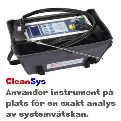 Analysering av värmesystem / kylsystem vätskan