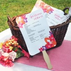 82 best Fan Wedding Favors images on Pinterest Wedding fans