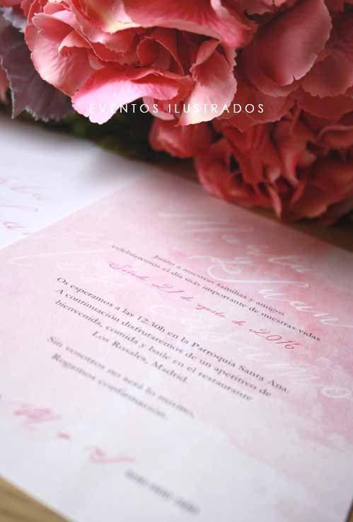 Invitaciones de boda en acuarela. Romanticismo y delicadeza en estado puro!
