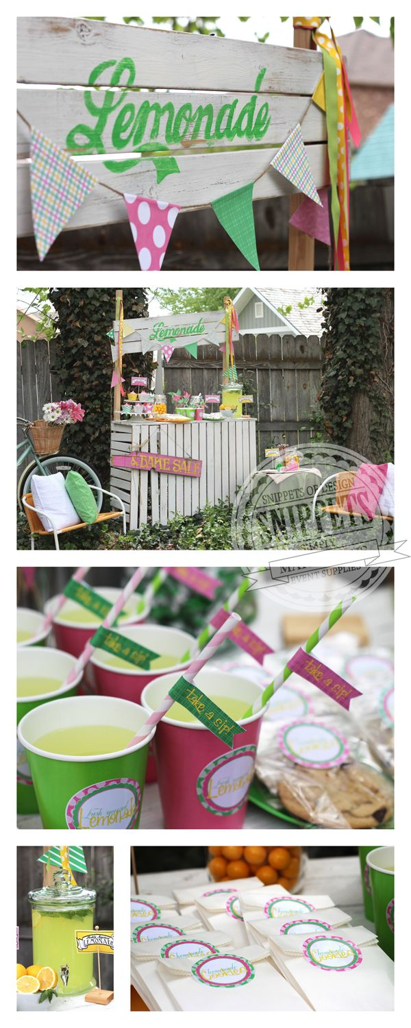Lemonade Stand Instructions & Printables
