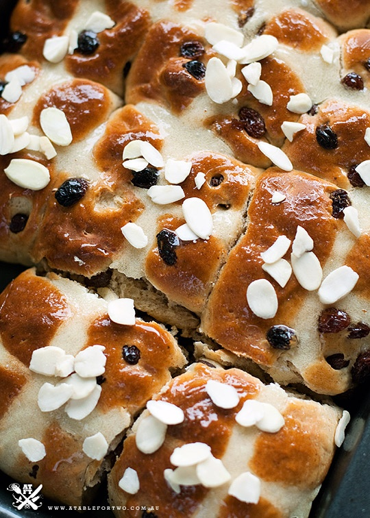 Easter Hot Cross Buns | A table for two