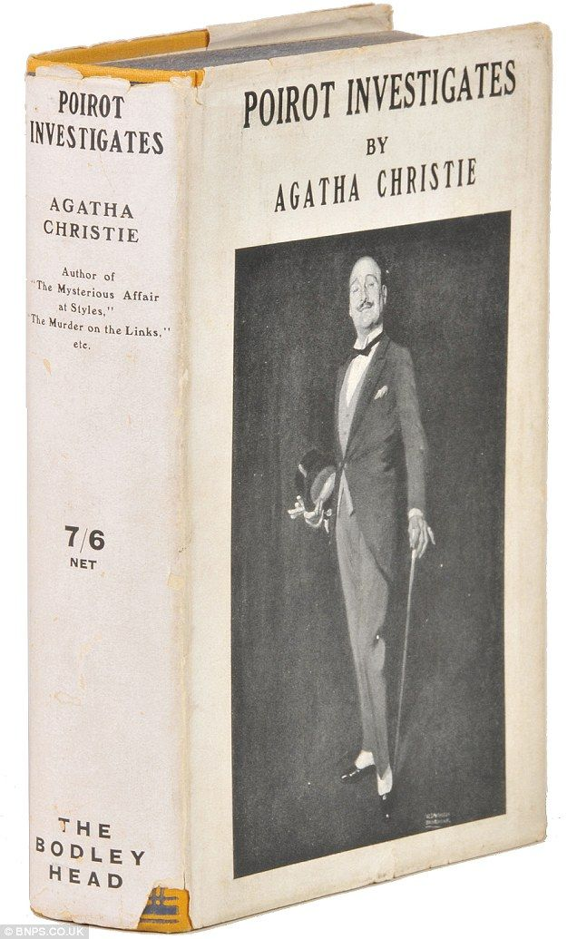 Agatha Christie novel with rare dust jacket showing Poirot for first time in 1924 sells for £ 40,000... and doesn't he look like Suchet?  Poirot Investigates is also first story to feature his name in the title  Sale beats previous record sum paid for Agatha Christie book of £10,000  Auctioneer knows of only two other such covers in existence…