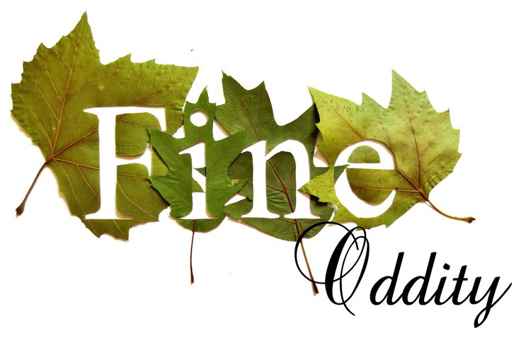 Fine Oddity - My Logo made from hand cut leaves