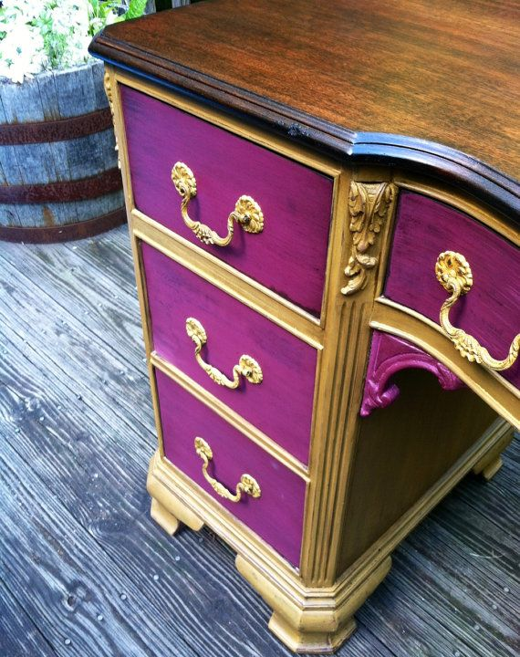 BoHo Chic Victorian Desk or Vanity by TheSandShop on Etsy, $425.00
