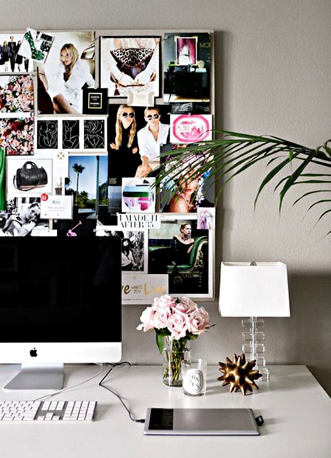 Office Inspiration I Like The Idea Of A Vision Pin Board On Wall