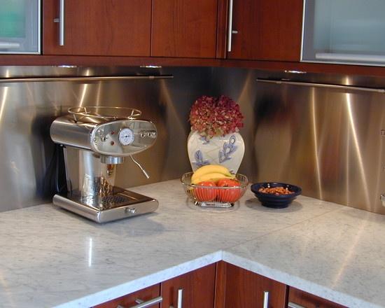 Instant Stainless Counter : Stainless steel backsplash ideas pinterest