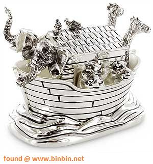 Newbridge Silverware Silver Plated Noahs Ark Music Box