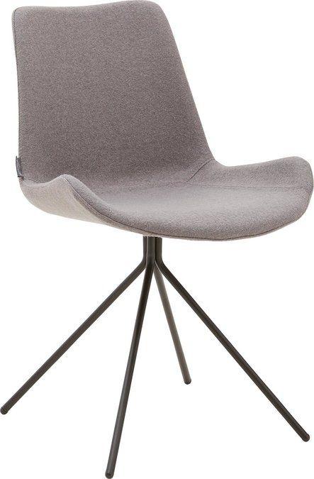 Kwik is een moderne designstoel met een verfijnd zwart metalen frame. Deze eetkamerstoel zonder arm in fijn geweven grijze stof geeft ieder interieur een moderne uitstraling. Door het ergonomische design is Kwik niet alleen een lust voor het oog, maar ook zeer comfortabel.