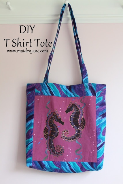Maiden jane t shirt tote tutorial purse bag sewing for T shirt tote bag