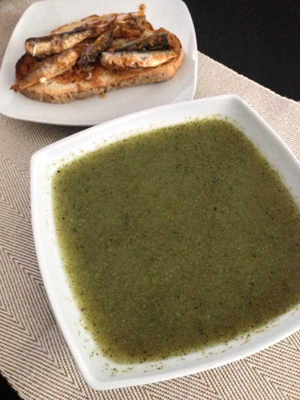 Receta de Sopa de brócoli y calabacín
