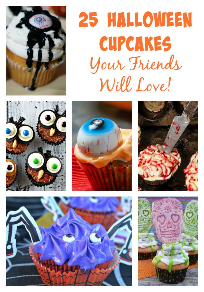 25 Halloween Cupcakes Your Friends Will Love! Cupcakes are the perfect dessert – they are portion-controlled (though it's hard to eat only one!), they are a blank canvas to decorate however your heart desires, and they are easier to transport and display than a full cake. That makes them a ghoulishly great treat for …