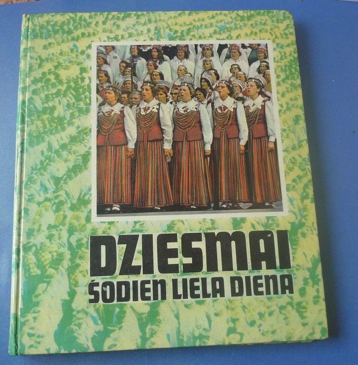 Old Latvia Liesma Book Photo Album illustrated Dziesmu Svetki Song Festival 1977