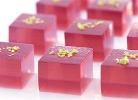 Shiva Landry, These are for you!  A gelatin riff on the classic Cosmopolitan Cocktail! 32 jelly shots