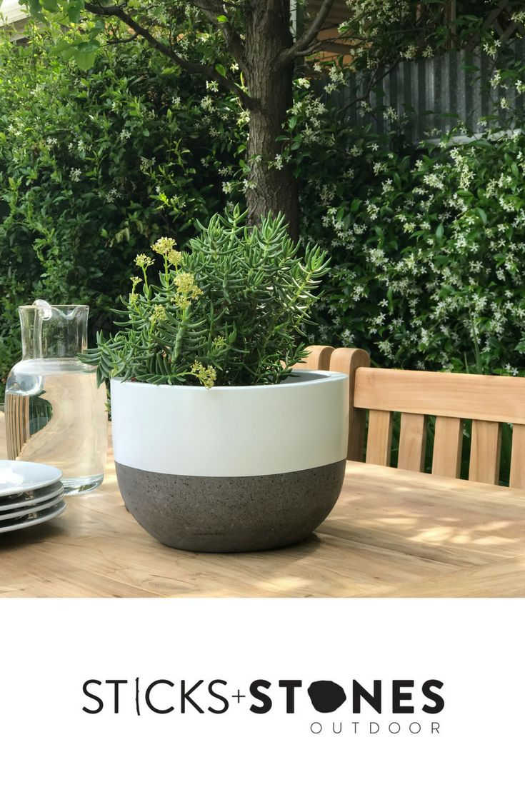 With a beautiful hand painted design, our Squash Pot is perfect for any indoor/outdoor landscape. It comes in small, medium, large and x large sizes and stylish colours to choose from such as Black Band, Black Top Dip, Natural/Unpainted, White Band and White Top Dip. At Sticks + Stones Outdoor, we travel the globe to source the most stunning, affordable, practical and stylish items to help you create your own beautiful outdoor space. #outdoordecor #homestyling #homeideas #pots #pottery