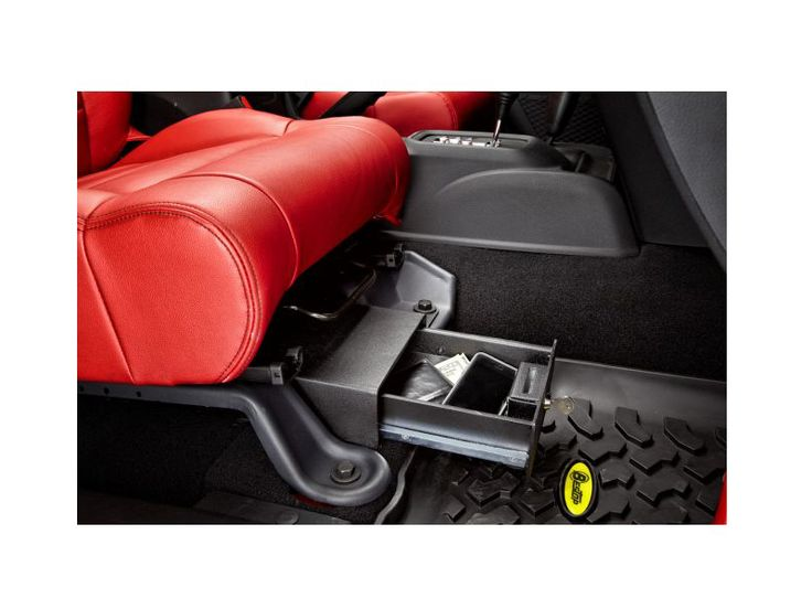 Bestop® Passenger SideLocking Under Seat Storage Box in Textured Black for 07-14 Jeep® Wrangler & Wrangler Unlimited JK