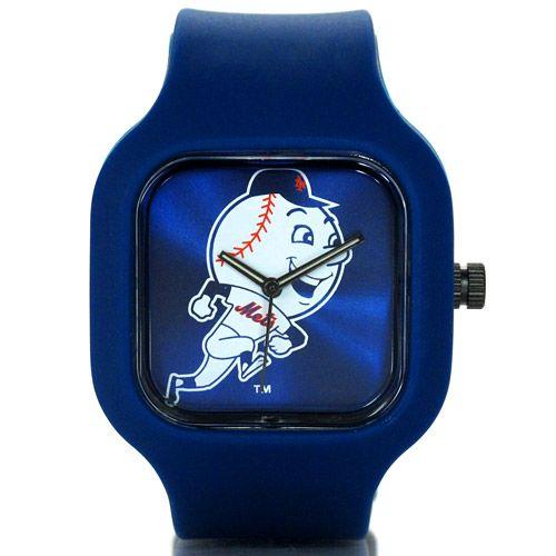 New York Mets Navy Mr. Met Watch By Modify Watches   MLB.com Shop