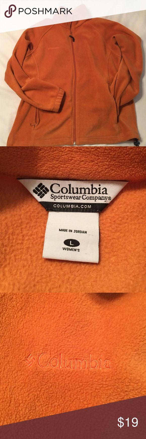 Columbia orange fleece zip up jacket. Get ready for Halloween in this orange fleece zip up jacket by Columbia sportswear! Columbia Jackets & Coats