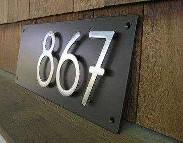 Best 25 contemporary house numbers ideas on pinterest for Bungalow house numbers