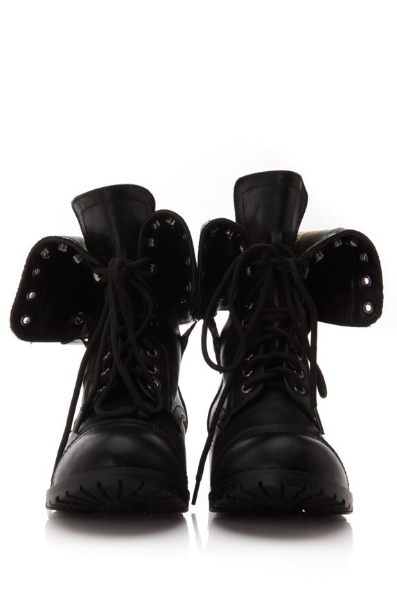 Check out the many combinations of fold over combat boots! It features a padded insole, gripped rubber outsole, round toe front, printed inner lining, lace up front, Vegan leather exterior, fasten with snap closures. Perfect to add with skinny jeans or a skater skirt! Check it out at www.cicihot.com #Chic #sexy #softhues #Pastel #pink #welovefashion #dressy #SpecialOccasion #Lace #dress #love #shop #needstoshop