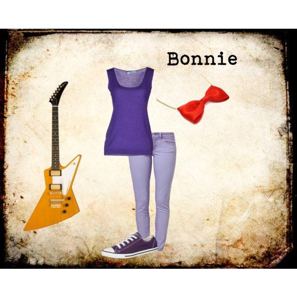 """Bonnie Bunny FNAF"" by ginger-girl1997 on Polyvore"