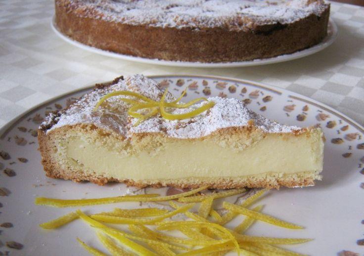 crostata con crema di ricotta al limone