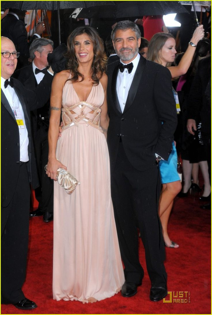 Elisabetta Canalis and George Clooney, showgirl and actor