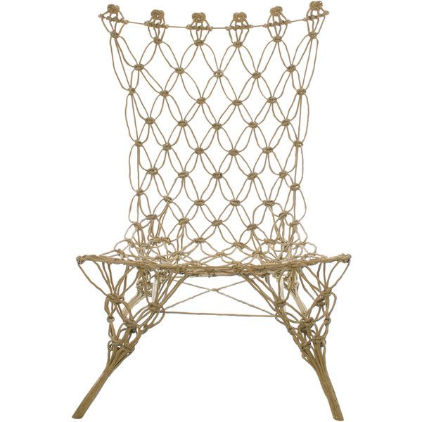 Pre-owned Marcel Wanders Knotted Chair ($2,500) ❤ liked on Polyvore featuring home, furniture, chairs, accent chairs, neutrals, second hand chairs, secondhand furniture and second hand furniture