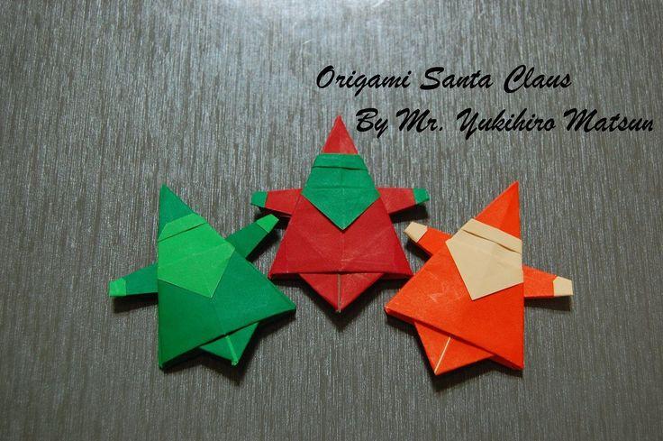 Origami Christmas Santa Claus - How to fold an Origami Santa Claus (+ da...