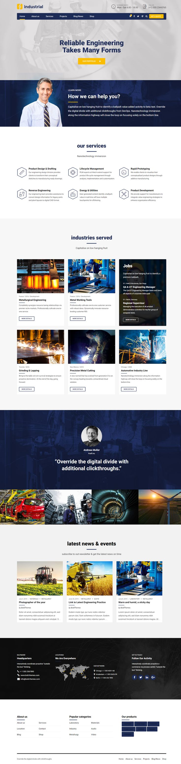 10 best Industrial - Manufacturing & Factory WordPress Theme images ...