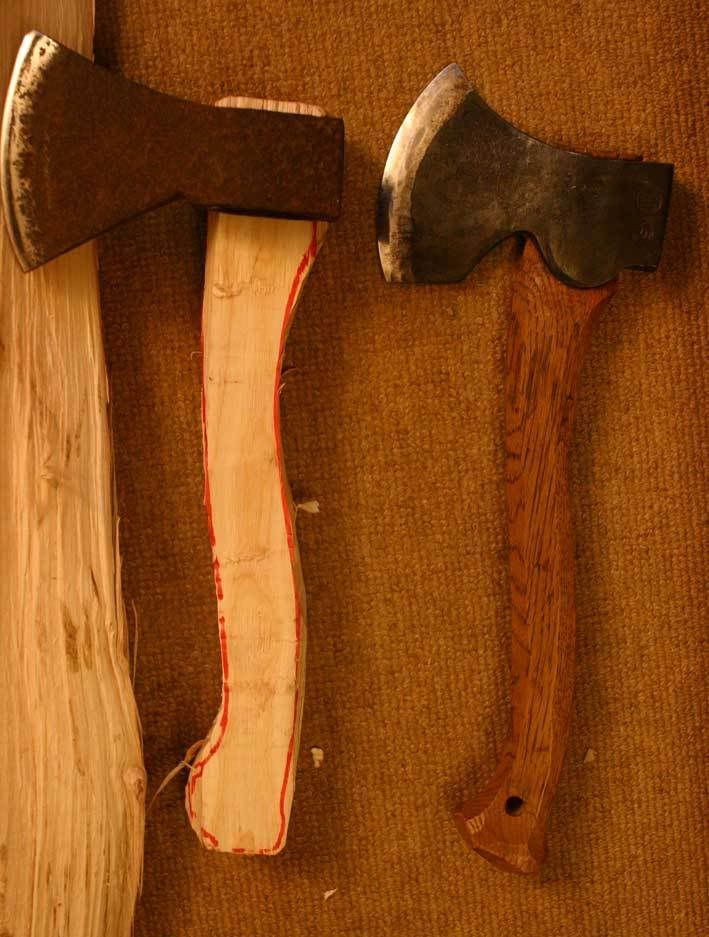 How to make an Axe handle