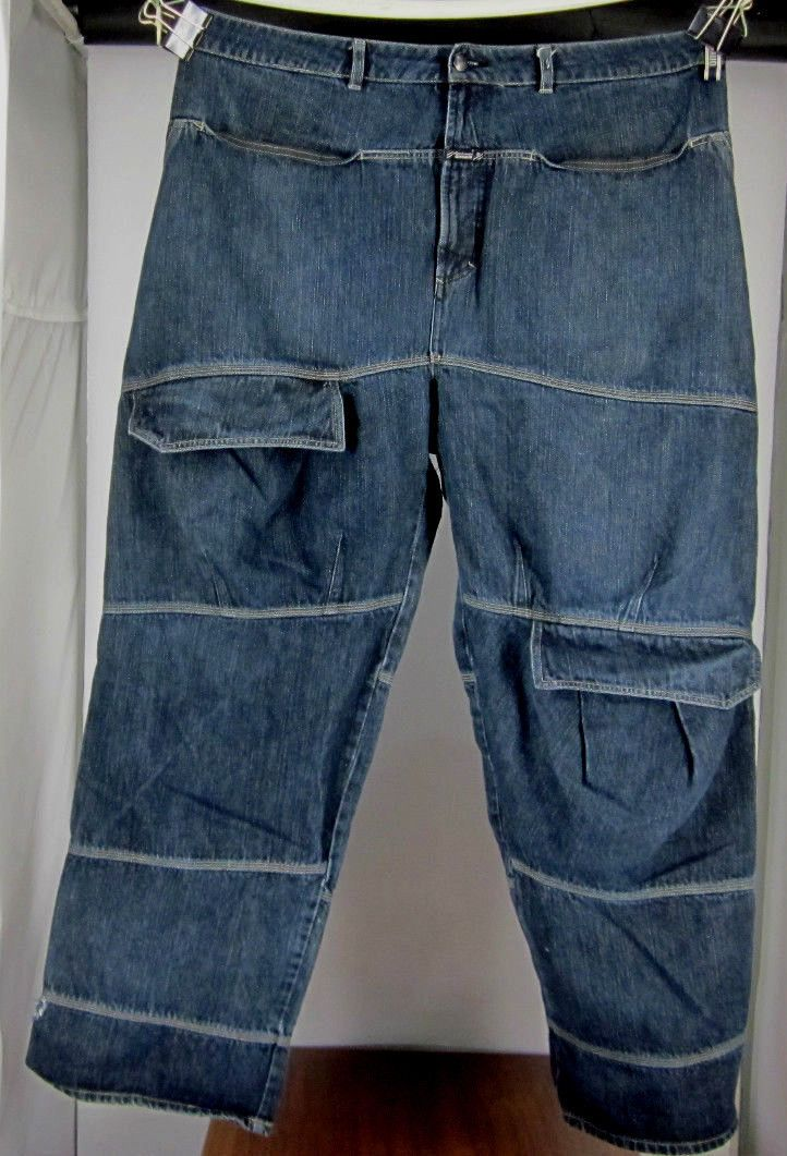 marithe francois girbaud men 39 s blue jeans baggy loose hip hop 42x33 100 cotton ebay girbaud. Black Bedroom Furniture Sets. Home Design Ideas
