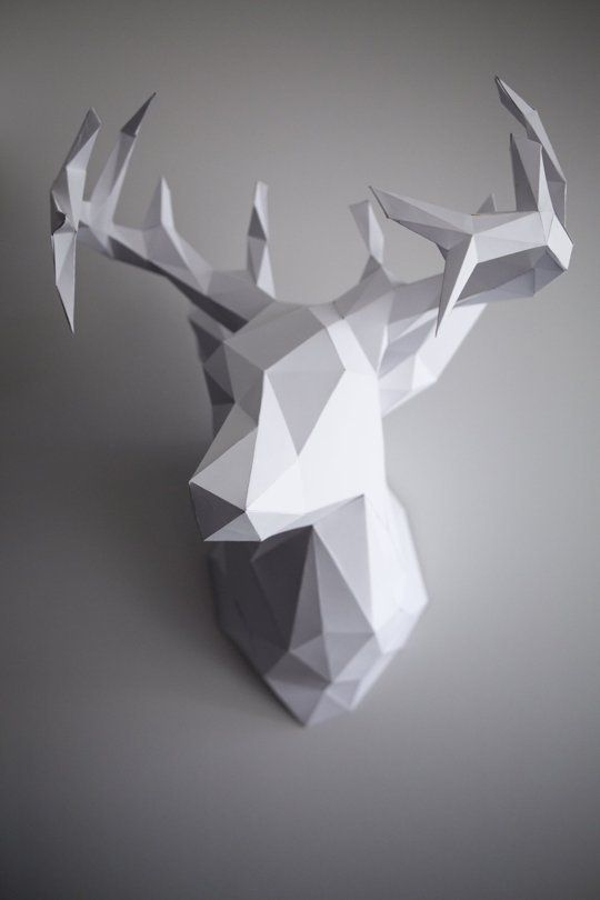 DIY 3D Paper Reindeer Head (Just in time for Christmas!) — Apartment Therapy Reader Project Tutorials   Apartment Therapy Main   Bloglovin'