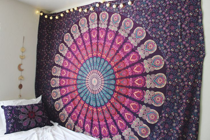 Every Lady Scorpio Mandala Tapestry is designed to create good vibes & positive energy. A Tapestry is a heavier, decorative textile created to be used as a wall hanging, or wherever your creative soul