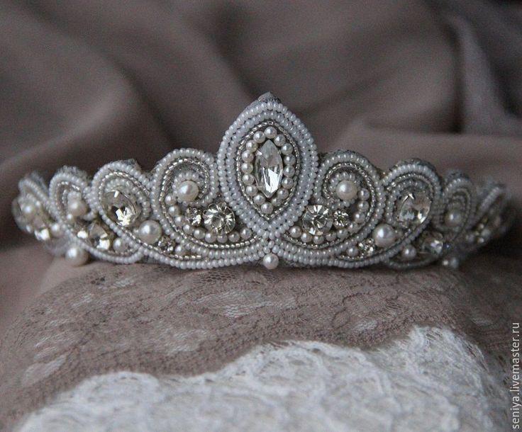Купить Диадема со сваровски. - белый, свадебная диадема, свадебная корона, невеста-принцесса, невесте