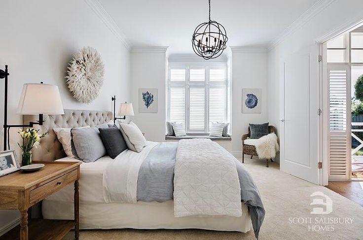 """590 Likes, 24 Comments - Provincial Home Living (@provincialhomeliving) on Instagram: """"A sneak peek look at the talented duo Phil & Amity from the Block's Hampton inspired bedroom. We…"""""""