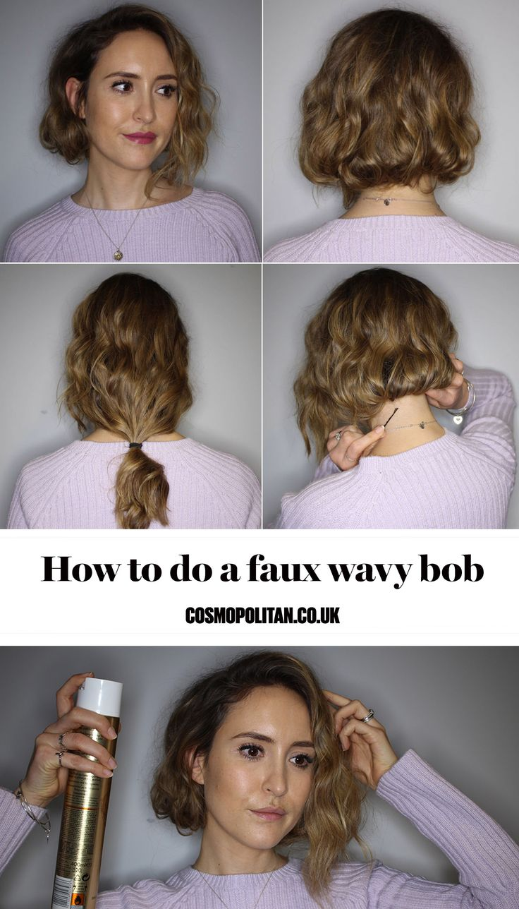 The wavy bob is the hairstyle of the season - but how do you style it out if you've got long hair? Enter this easy peasy DIY tutorial for a faux long wavy bob