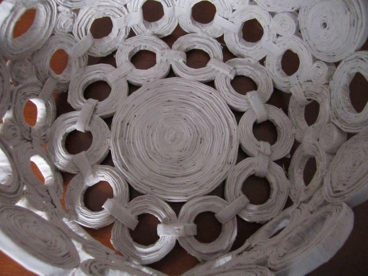 STELLEDILATTA: Cesto di carta riciclata