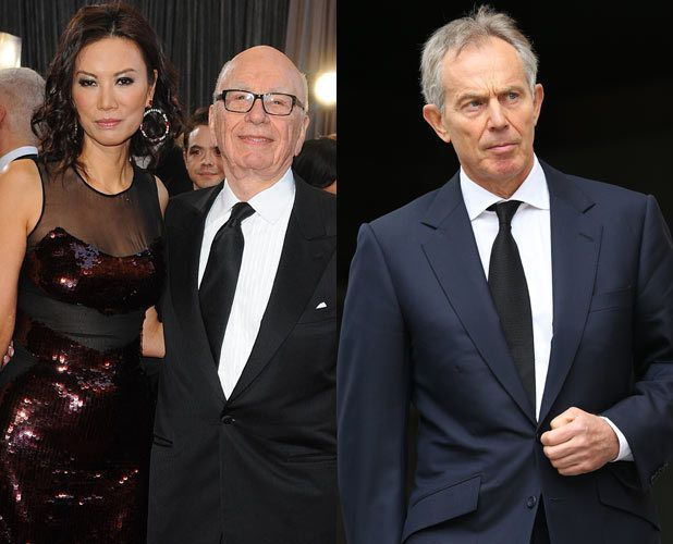 Whatsupic - Murdoch's Feud with Blair over Wife Wendi: 'Terminal' end of Friendship over Claims of 'Multiple Encounters' Between ex-PM and Tycoon's Wife