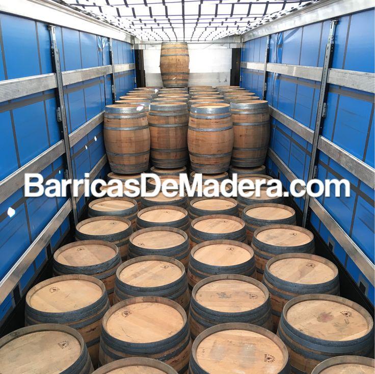 This morning we are loading a 40' HC container with 150 barrels and one full mega truck with 222 barrels. Thinking about getting some of them? | Está mañana estamos cargando un contenedor de 40' HC con 150 barricas y un camión con 222 barricas. ¿Estás pensando en comprar algunas? #usedbarrels #oakbarrels #barriques #botti #redwine #wijnvaten #vaten #vintønde #woodenbarrel #tonneau #futdechene #winebarrel