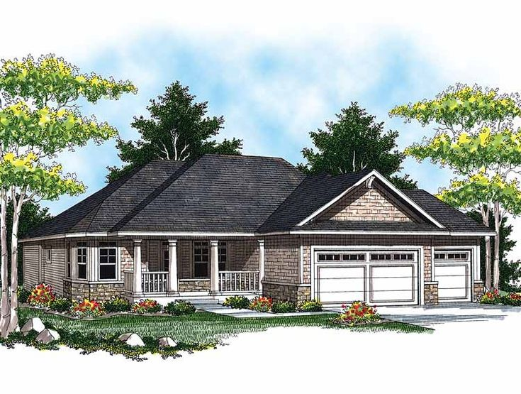 20 best house plans images on pinterest for Southern style ranch home plans