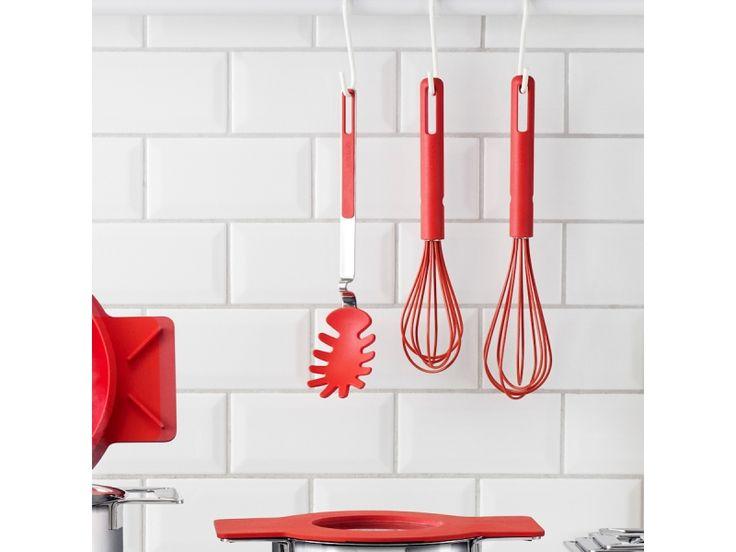Eva Solo Trzepaczka 30 cm, czerwona | BelloDecor\ nowoczesna kuchnia czerwone dodatki