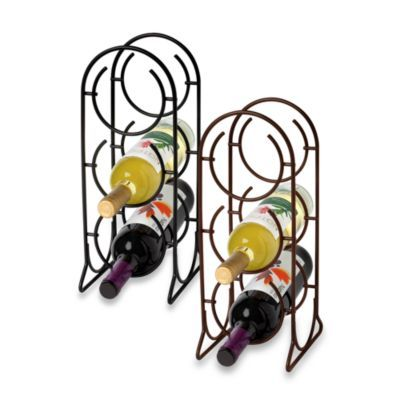 spectrum horseshoe 3bottle metal wine rack