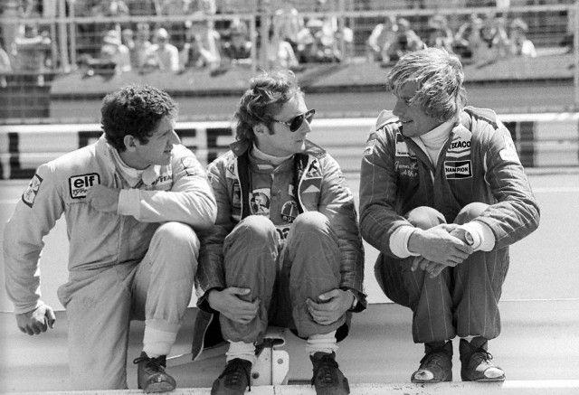 Jody Scheckter, Niki Lauda et James Hunt 1976