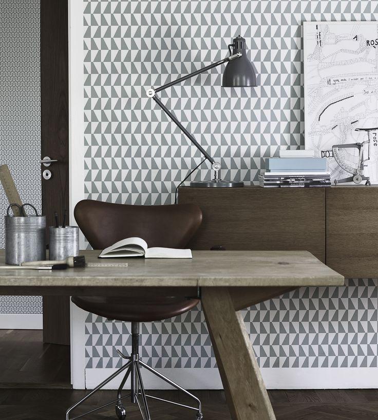 Greys | Trapez Wallpaper by Borastapeter | Jane Clayton
