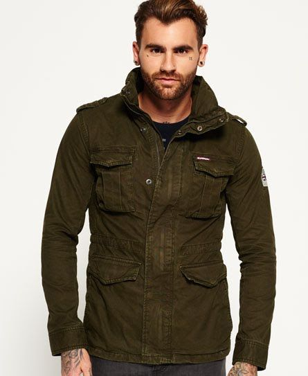 Superdry Veste de randonnée Rookie Heavy Weather Vert