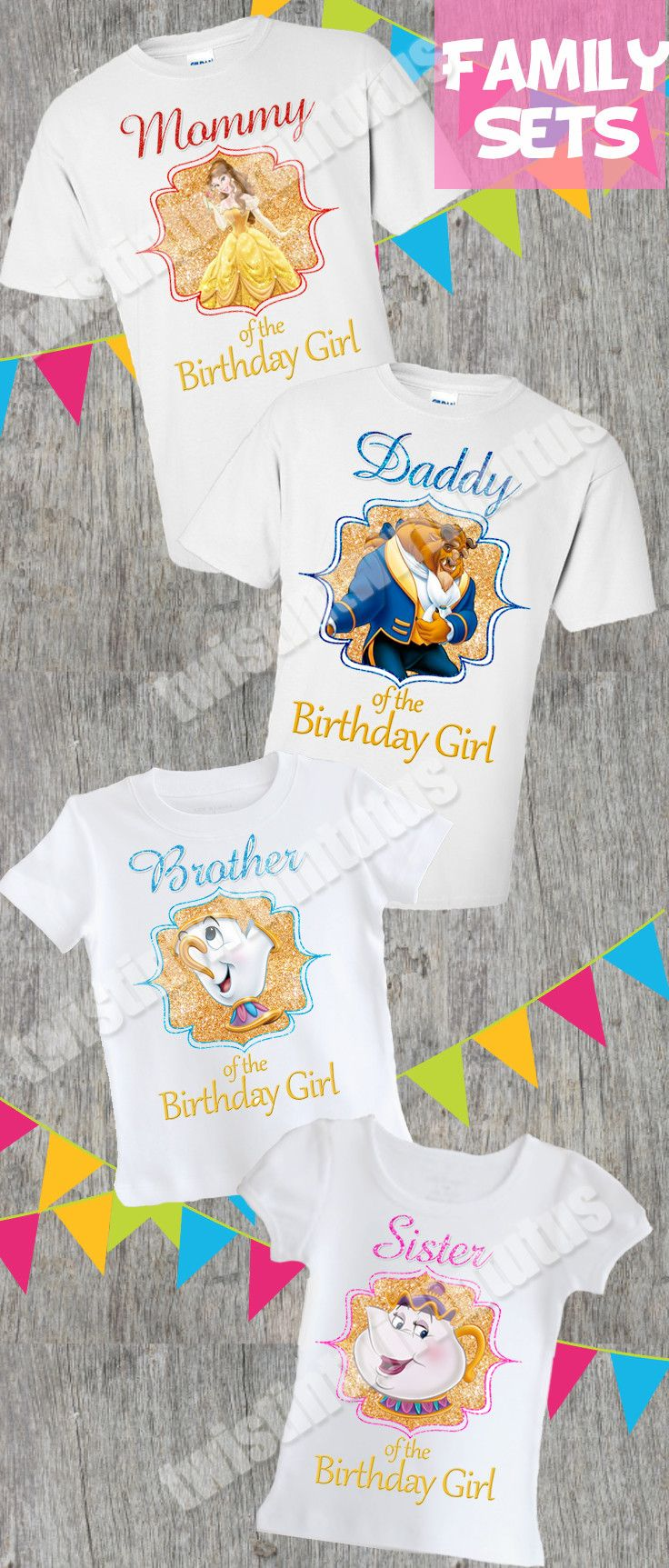 Beauty and the Beast Family Shirts   Beauty and the Beast Birthday Shirt   Beauty and the Beast Birthday Party   Beauty and the Beast Party   Princess Belle Birthday Party   Belle Birthday Party   Birthday Ideas for Girls   Twistin Twirlin Tutus #beautyandthebeastbirthday