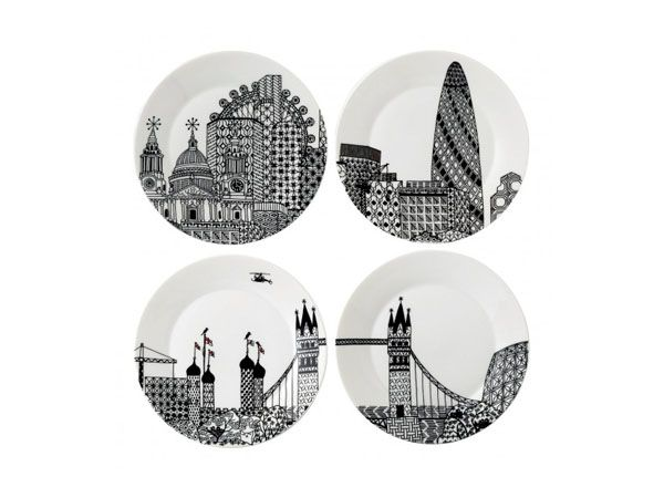 London Calling plates from Charlene Mullen for Royal Doulton