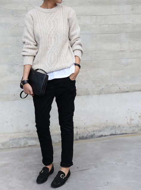 always a good option: black and white, pullover, t…