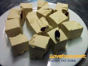 Halva – Turk's sweet (Maltese Meditteranean Sweets) This imported sweet probably arrived in our islands when Malta was under Arab rule. It has since then become part of the Maltese cuisine and is a common sweet on the islands, especially served at the end of big meals, weddings and during feast celebrations.
